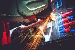 Гараж работает отрезок металла Стоковые Изображения RF