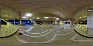 гараж сферически изображения 360 Стоковое Фото