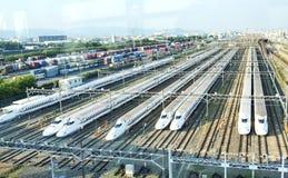 Гараж Shinkansen стоковая фотография