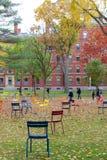 Гарвардский университет в падении стоковое фото