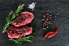 2 гарнированных стейка говядины Стоковые Фото