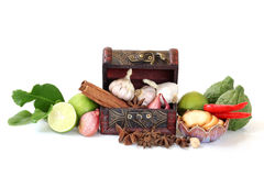 Гарнируйте изолированные группы овощей стоковые изображения