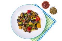 Гарнируйте различных овощей стоковое фото