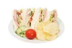 гарнируйте сандвич салата ветчины стоковая фотография
