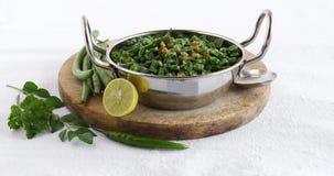 Гарнир карри зеленой фасоли южный индийский вегетарианский стоковая фотография
