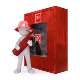 Гаситель сдерживающего огня пожарного шаржа бесплатная иллюстрация