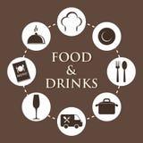 Гастрономия и ресторан бесплатная иллюстрация