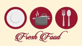 Гастрономия и ресторан иллюстрация штока
