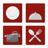 Гастрономия и ресторан иллюстрация вектора