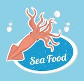 Гастрономия продукта моря иллюстрация штока