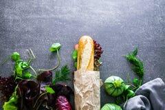 Гастроном прослаивает с овощами стоковое изображение