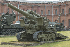 Гаубица B-4-203-mm (1931) Вес, kg: оружи - 17700, раковина - 10 Стоковая Фотография RF