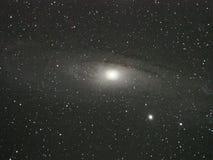 Галактика Андромеды и звезды вселенной ночное небо Стоковое Фото