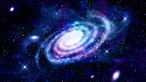 Галактика в космическом пространстве иллюстрация штока