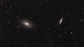 Галактика межзвёздного облака и сигары Bode стоковая фотография rf
