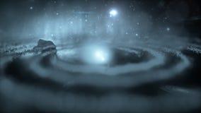 Галактика, межзвёздное облако, звезды, черная дыра Стоковые Изображения RF