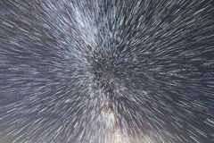 Галактика млечного пути Космический полет на скорости света Перемещение времени Стоковые Фото