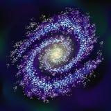 галактика Прозрачное влияние спираль Предпосылка вектора запаса космос звезды иллюстрация штока