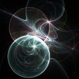 Галактика сияющей фрактали космическая Стоковая Фотография RF