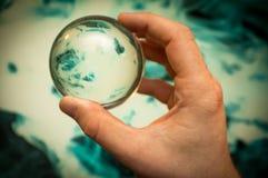 Галактика хрустального шара Стоковая Фотография