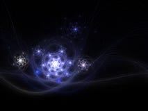 Галактики фрактали в вселенной Стоковое Фото