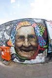 Галерея Ист-Сайд - искусство и граффити улицы в Берлине, Германии Стоковая Фотография