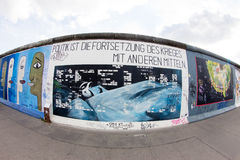 Галерея Ист-Сайд - искусство и граффити улицы в Берлине, Германии Стоковая Фотография RF