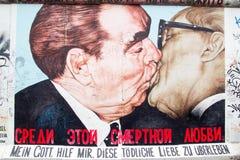 Галерея Ист-Сайд - искусство и граффити улицы в Берлине, Германии Стоковые Изображения RF