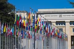 Галерея национальных флагов Стоковая Фотография