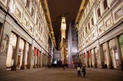 Галерея Uffizi к ноча стоковое фото rf