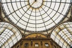 Галерея Vittorio Emanuele II, милан, Италия Стоковая Фотография RF