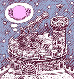 Галилео Галилей на телескопе Стоковое Фото