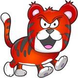 Гадкий средний вектор тигра Стоковые Фото