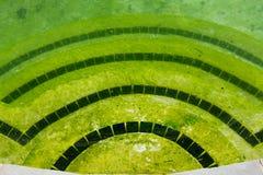 Гадостные плавательный бассеин и патио задворк Стоковые Фотографии RF