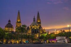 Гвадалахара и это красивая церковь стоковое изображение
