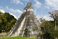 Tikal. Майяские руины в Гватемале Стоковое фото RF