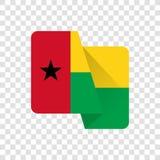 Гвинея-Бисау - национальный флаг иллюстрация штока