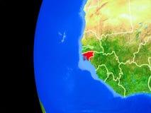 Гвинея-Бисау от космоса иллюстрация вектора