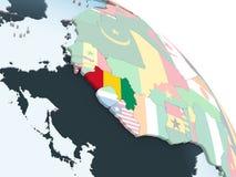 Гвинея с флагом на глобусе бесплатная иллюстрация