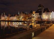 Гданьск на ноче Стоковое Фото