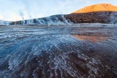Гейзеры долины на El Tatio, северной Чили, Atacama Стоковое Изображение RF