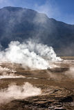 Гейзеры El Tatio - пустыня Atacama - Чили Стоковое Изображение RF