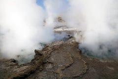 Гейзеры El Tatio, Чили Стоковое Фото