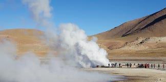 Гейзеры El Tatio, Чили Стоковое Изображение