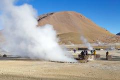 Гейзеры El Tatio, Чили Стоковое фото RF