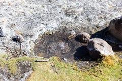 Гейзеры Junthuma, сформированные геотермической деятельностью bolivians стоковые изображения rf
