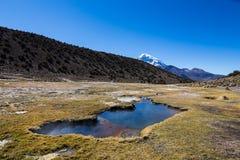 Гейзеры Junthuma, сформированные геотермической деятельностью bolivians стоковые фото