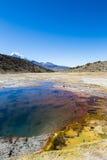 Гейзеры Junthuma, сформированные геотермической деятельностью bolivians стоковая фотография rf
