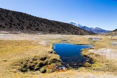 Гейзеры Junthuma, сформированные геотермической деятельностью bolivians стоковые фотографии rf