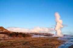 Гейзер в Исландии Стоковые Фотографии RF